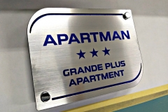 Dzungla apartmani, tabla za apartmane