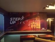 Lacoste caffe club wall print